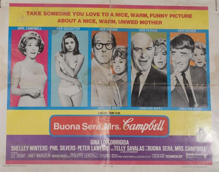 Buena Sera Mrs. Campbell, 1968, half sheet poster