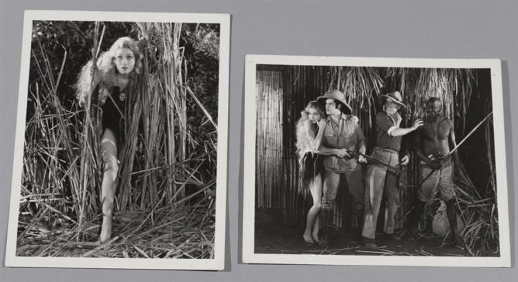 Trader Horn, 1930, two black and white movie stills