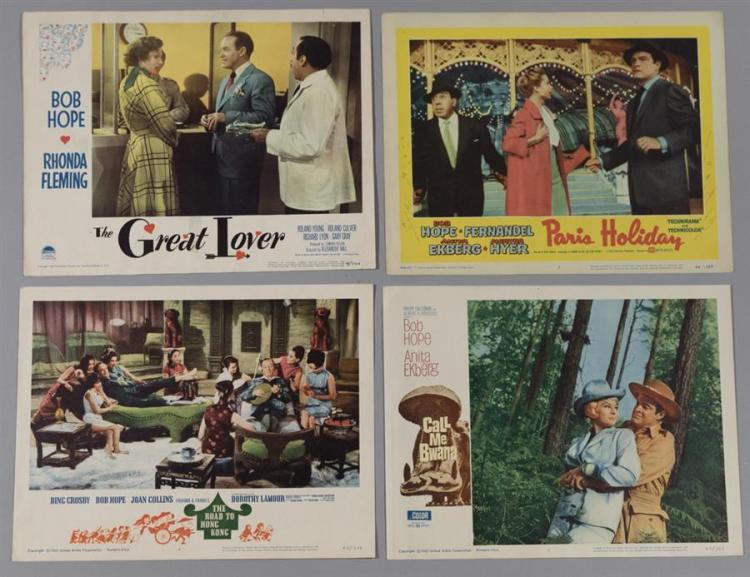 Four Bob Hope Lobby Cards, various movies including: