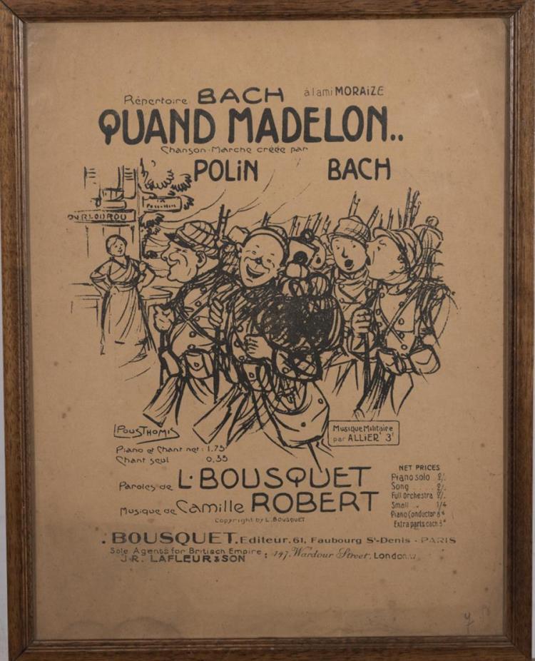 Chansons et Marches des Poilus, French poster