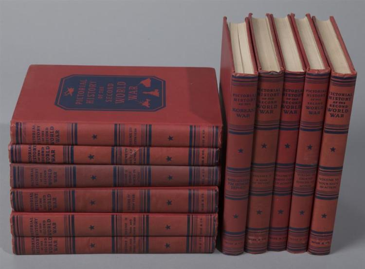 Pictorial History of the Second World War; NY 1944 – 1949; 10 volumes.