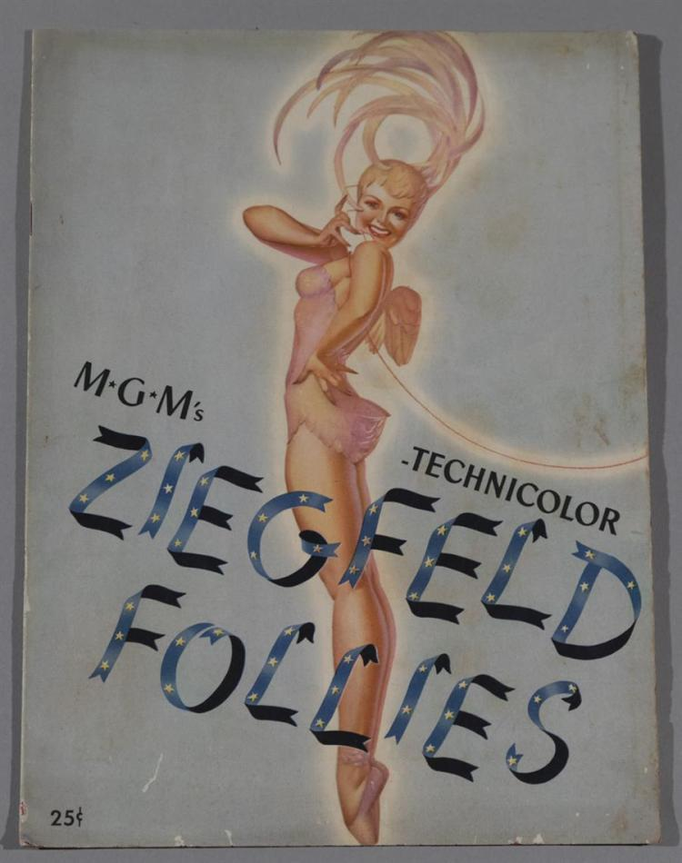 MGM's Ziegfeld Follies vintage program featuring Fred Astaire and Lucille Ball