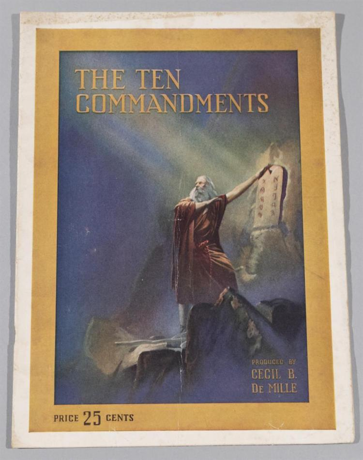 The Ten Commandments, Paramount Pictures original souvenir program, 1956