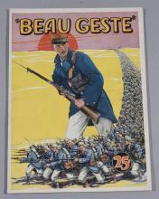 Beau Geste, 1939, Paramount Pictures, featuring Gary Cooper, Ray Milland nad Robert Preston, vintage movie program