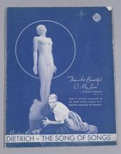 The Song of Songs, Paramount Pictures, 1933, featuring Marlene Dietrich, vintage program