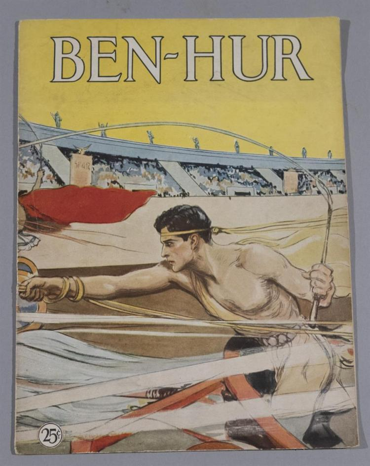 Ben Hur, MGM, 1926, featuring Ramon Novarro, vintage program