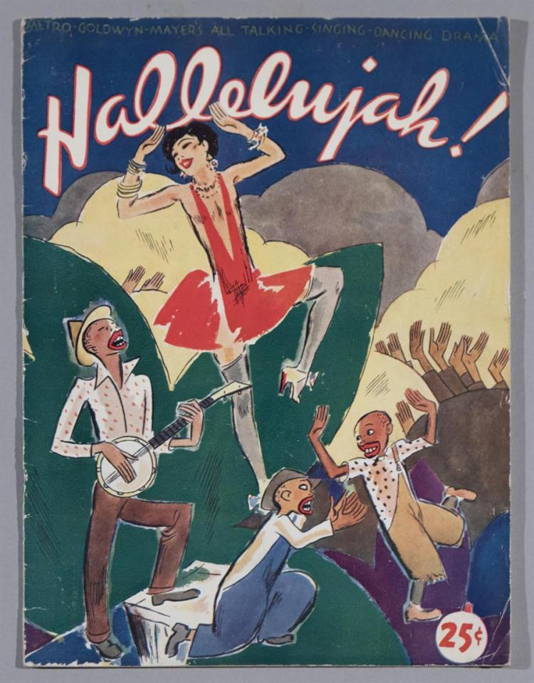 Halleluia, 1929, MGM, official movie program, the first all black musical in hollywood history, a rare souvenir from this historic film
