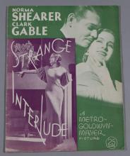 Strange Interlude, MGM, 1932 original movie program, featuring Norma Shearer and Clark Gable