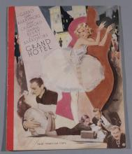 Grand Hotel, MGM 1932 original movie program featuring Greta Garbo, John Barrymore, Joan Crafowrd, Wallace Beery and Lionel Brrymore,