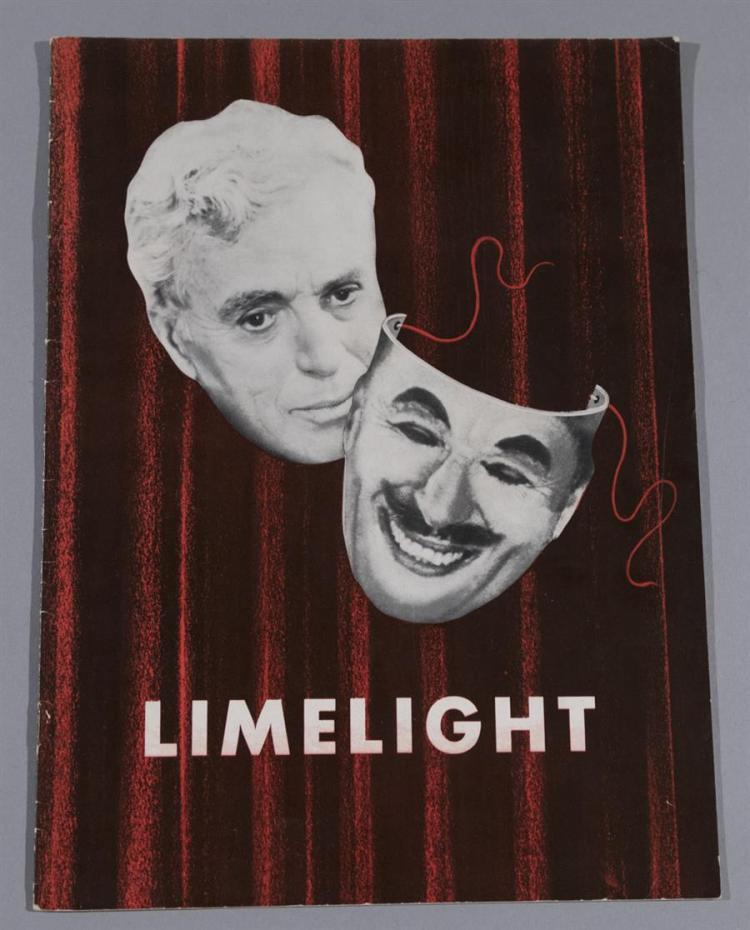 Limelight, with Charlie Chaplin, 1952 original movie program
