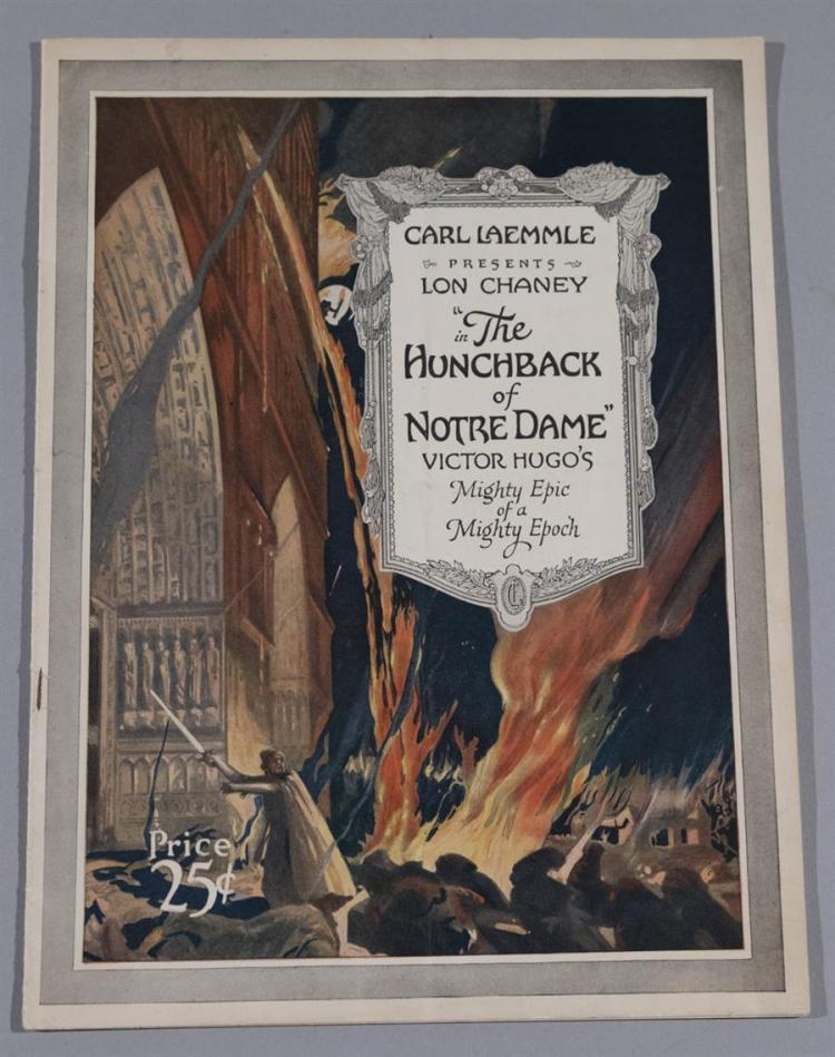 The Hunchback of Notre Dame, 1923 featuring Lon Chaney, original movie program