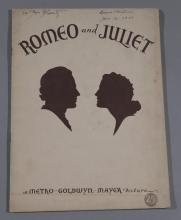 Romeo and Juliet, 1936 MGM original movie program