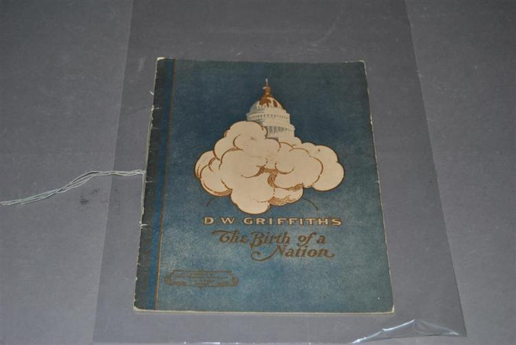 D. W. Griffiths: original movie program The Birth of a Nation, 1915.