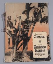 Trader Horn, 1931 MGM original movie program presented by Grauman's Chinese Theatre