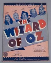The Wizard of Oz, 1939, souvenir music book.