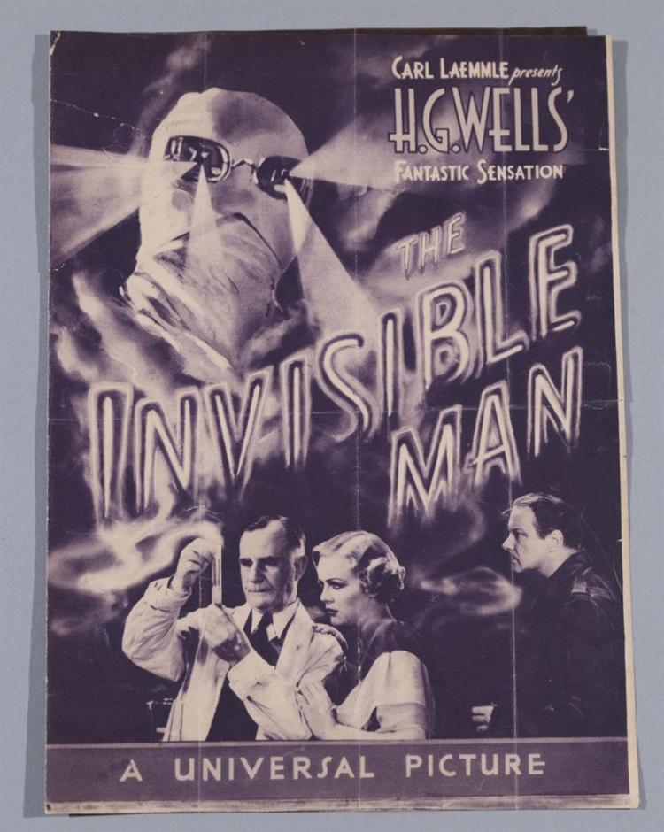 Carl Laemmle's The Invisible Man, 1933, A Universal Picture, original movie herald.