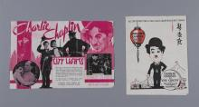 Two vintage Charlie Chaplin Movie Heralds: City Lights at the Lindsay Theatre, Lubbock; together with The Circus at Grauman's Chines..
