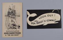 The Sea Beast, 1926, with John Barrymore, vintage movie heralds