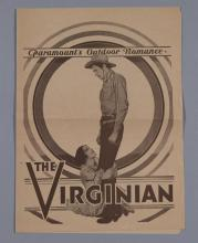 The Virginian, Paramount Pictures, 1929, vintage movie herald