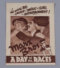The Marx Bros. in A Day at the Races, 1937, A Sam Wood Production, vintage movie herald, Eudunda