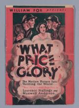 What Price Glory, the 1926 silent comedy drama war film, presented by William Fox, vintage advertising movie herald