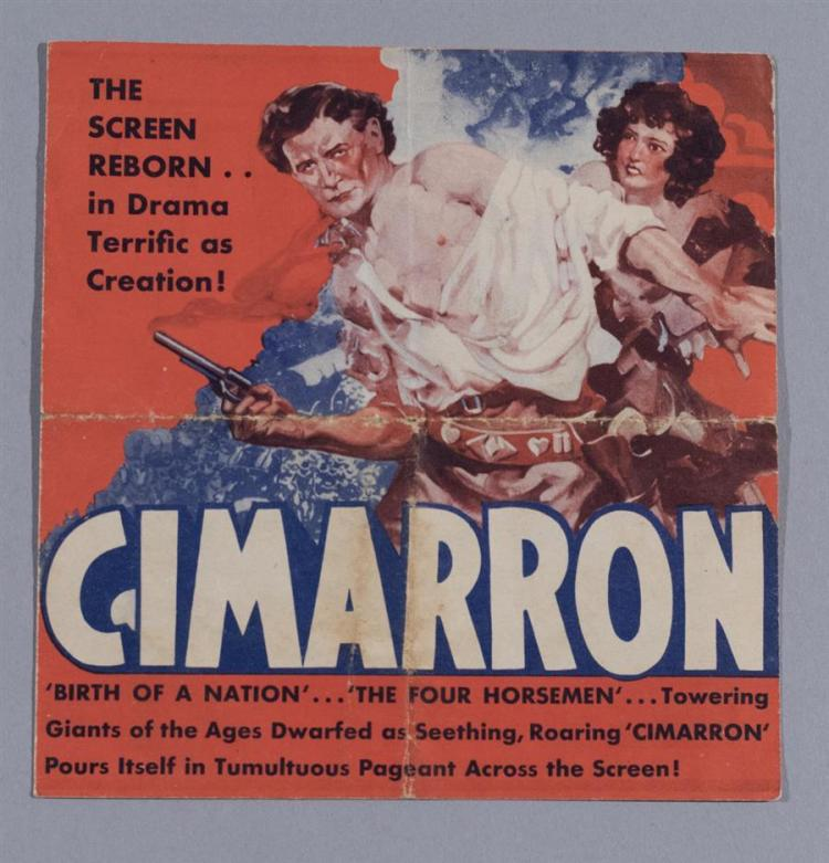 Cimarron, 1931, Directed by Wesley Ruggles, original advertising movie herald