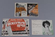 Group of three original movie heralds: The Hollywood Revue, MGM, 1929 film by Charles Reisner; Mantrap, Paramount, a Victor Fleming...