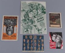 Group of five original advertising movie heralds:  America, D