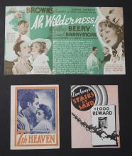 Group of three original advertising movie heralds:  7th Heaven presented by William Fox, 1927, directed by Frank Borzage starring Ja...