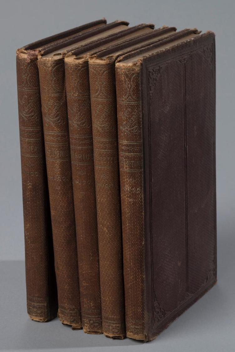 Hugo, Victor:  Les Miserables (in 5 volumes), New York, Carleton, 1862, first edition in English; I