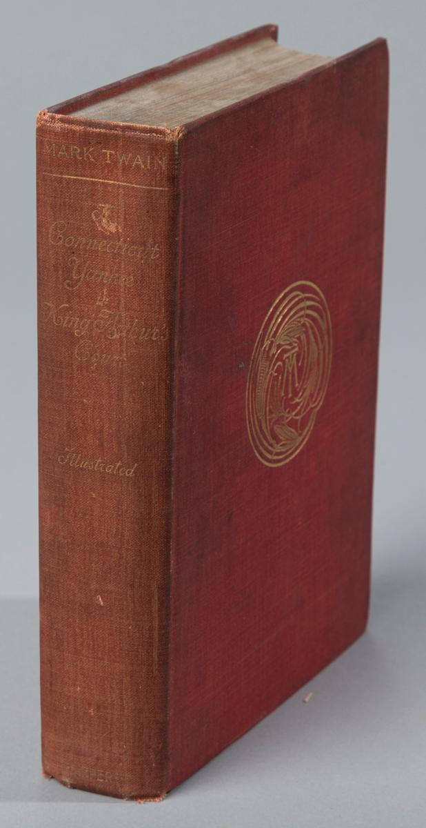 Twain, Mark:  A Connecticut Yankee in King Arthur's Court, Harper & Brothers, 1896, hard cover, red cloth binding