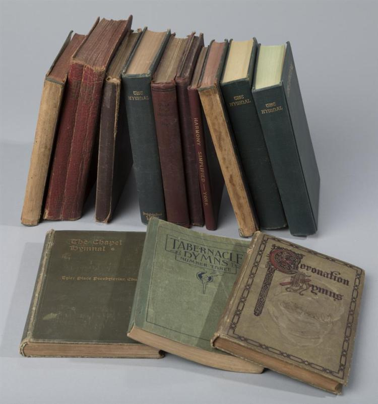 Collection of Hymnals dating from 1900 to 1958