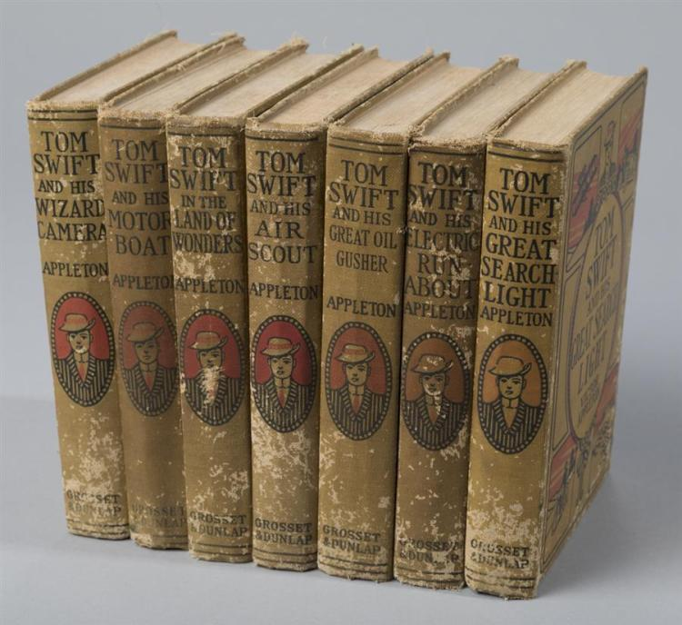 Appleton, Victor: collection of seven Tom Swift books, published between 1910 and 1924