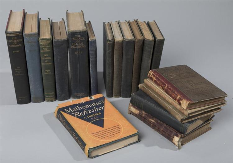 Collection of Early textbooks dating from 1848 - 1942, covering the topics of math and science