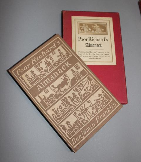 Poor Richard's Almanack, Published in Mount Vernon, at the Sign of the Peter Pauper Press, with numerous quaint Cuts by an Unknown H..