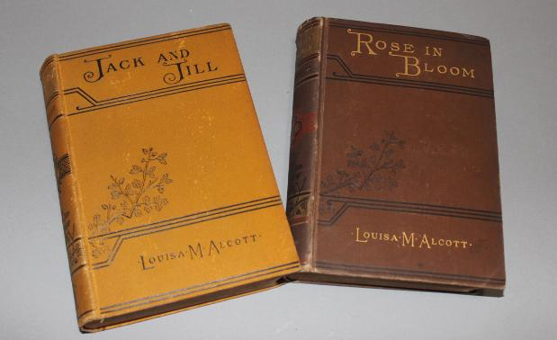 Alcott, Louisa May:  Jack and Jill, and Rose in Bloom, published 1892, and 1884 (respectively)