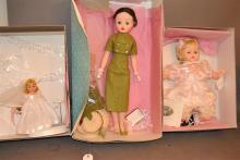 Three Madame Alexander dolls; 20