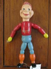Vintage Howdy Doody wooden jointed doll, original finish