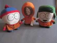 Three South Park cloth dolls