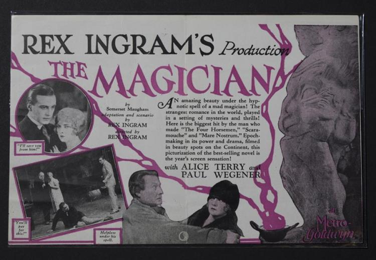 The Magician, a Rex Ingram production starring Alice Terry and Paul Wegener