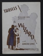 The Wizard, original movie herald presented by William Fox, starring Edmund Lowe