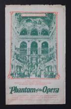 The Phantom of the Opera, a Carl Laemmle film starring Lon Chaney, original movie herald