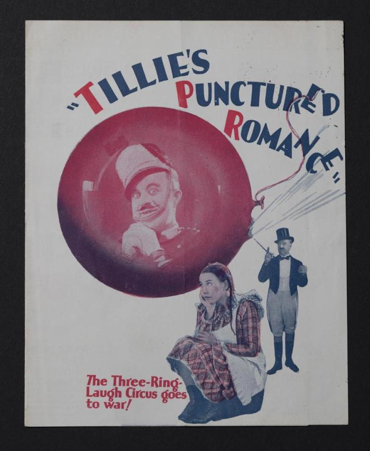 Tillie's Punctured Romance, original movie herald