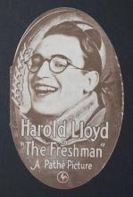 The Freshman, a Pathe picture with Harold Lloyd, original movie herald