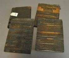 Set of four printing blocks