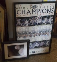 Two framed Baseball related pictures:  2000 New York Yankees World Series Champions, together with a signed color photo