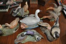 Collection of six Ducks Unlimited Jim Beam decanters