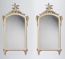 Pair of 19th Century Italian Painted Wall Mirrors