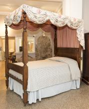 Antique American Classical Tester Bed