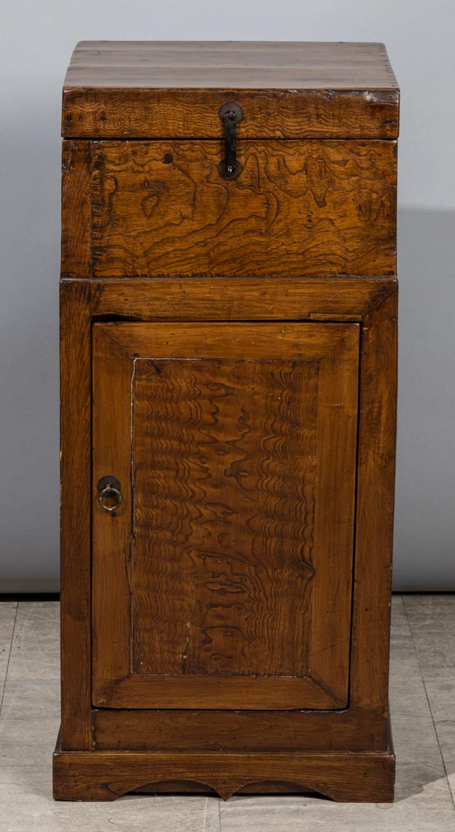 Old burl wood cabinet for Burl wood kitchen cabinets